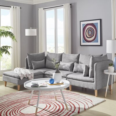 Colinda Reversible Sectional Upholstery: Gray