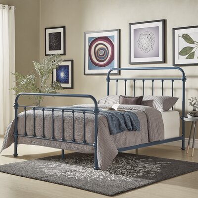 Cavaillon Panel Bed Color: Blue Steel, Size: Full