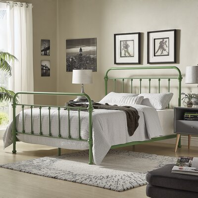 Cavaillon Panel Bed Color: Meadow Green, Size: Queen