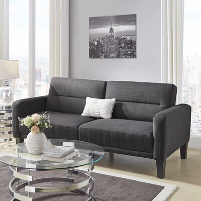Colhaven Modern Tufted Back Track Modular Sleeper Sofa Upholstery: Single Tufted Back