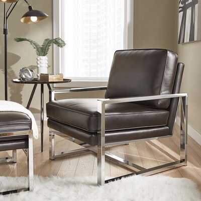 Adalbert Metal Frame Armchair and Ottoman