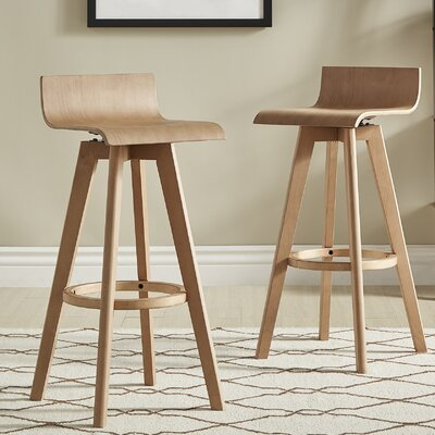Dery 29 Swivel Bar Stool Color: Natural