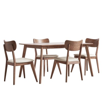 Hardwick Mid-Century 5 Piece Dining Set Color: Chestnut