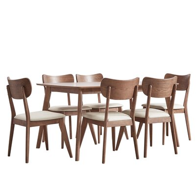 Hardwick Mid-Century 7 Piece Dining Set Color: Chestnut