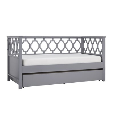 Sangerfield Quaterfoil Daybed with Trundle Color: Gray