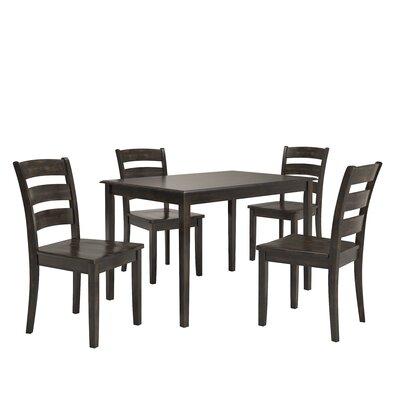 Alverson 5 Piece Dining Set Color: Black