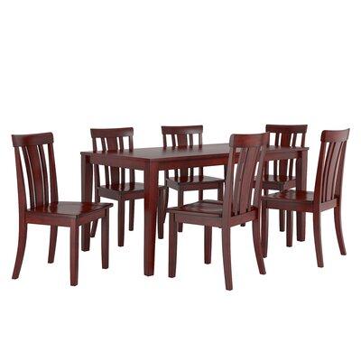 Alverson 7 Piece Dining Set Color: Berry Red