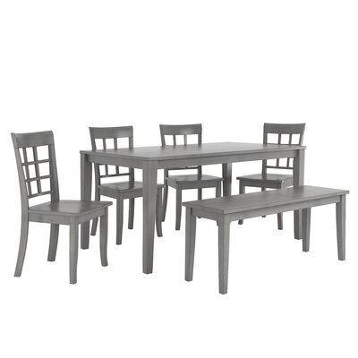 Alverson 6 Piece Dining Set Color: Antique Gray