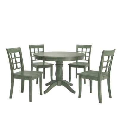 Alverson 5 Piece Dining Set Color: Dark Sea Green