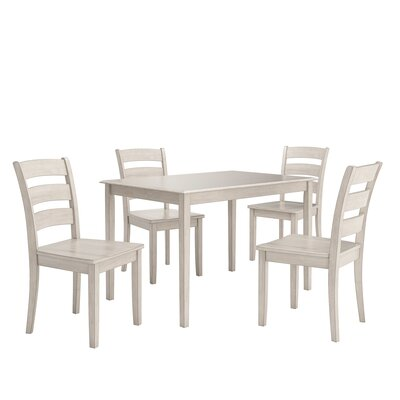 Alverson 5 Piece Dining Set Color: Antique White