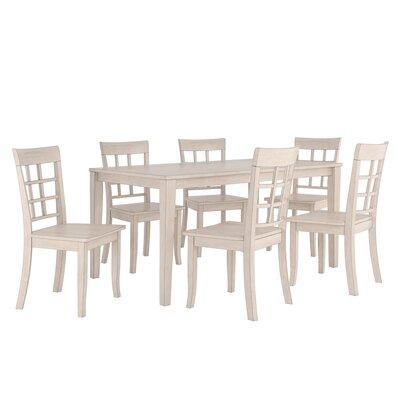 Alverson 7 Piece Dining Set Color: Antique White