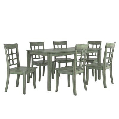 Alverson 7 Piece Dining Set Color: Dark Sea Green