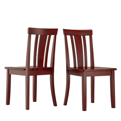 Alverson Solid Wood Dining Chair Color: Berry Red