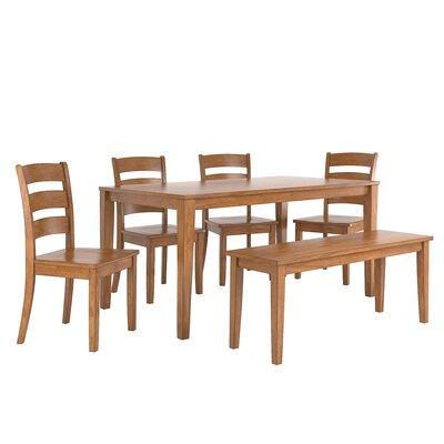 Alverson 6 Piece Dining Set Color: Oak