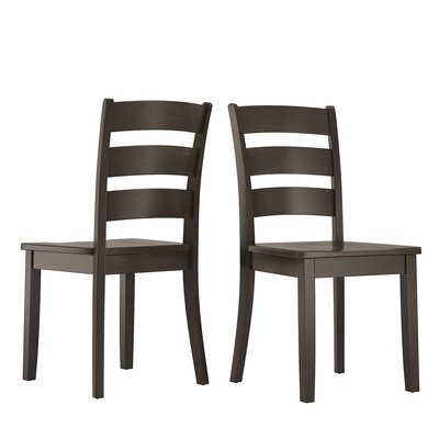 Alverson Solid Wood Dining Chair Color: Black
