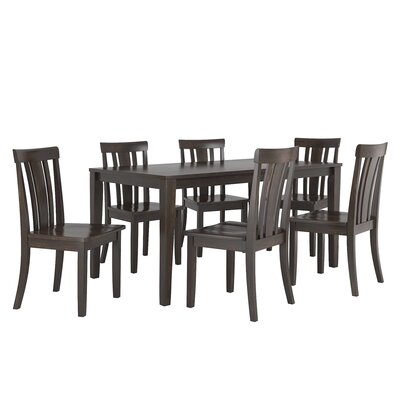 Alverson 7 Piece Dining Set Color: Black