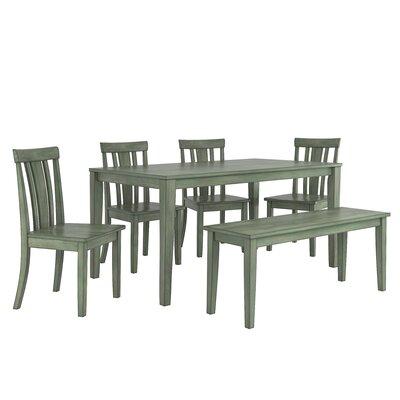 Alverson 6 Piece Dining Set Color: Dark Sea Green