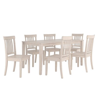 Alverson 7 Piece Dining Set Color: Antique White