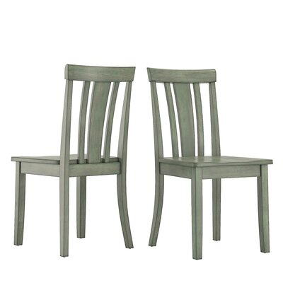 Alverson Solid Wood Dining Chair Color: Dark Sea Green