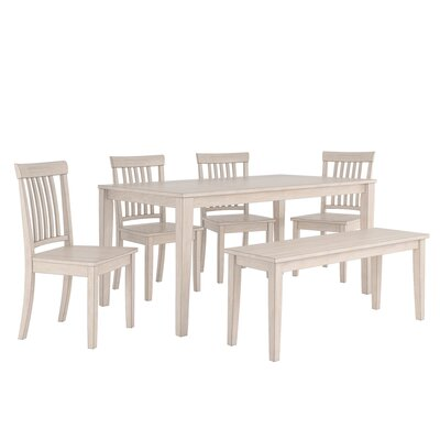 Alverson 6 Piece Dining Set Color: Antique White