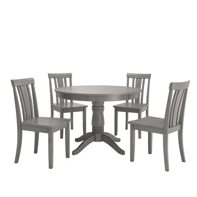 Alverson 5 Piece Dining Set Color: Antique Gray
