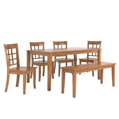 Alverson 6 Piece Dining Set Color: Oak