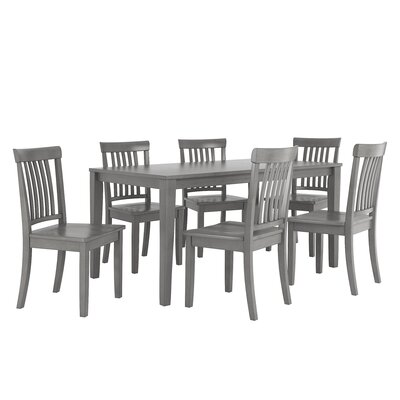 Alverson 7 Piece Dining Set Color: Antique Gray