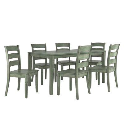 Alverson 7 Piece Dining Set Color: Dark Sea Green