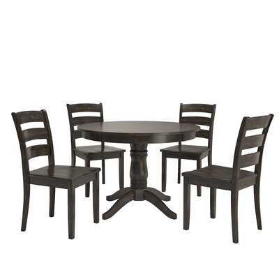 Alverson 5 Piece Dining Set Color: Black
