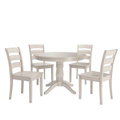 Alverson 5 Piece Dining Set Color: Antique White