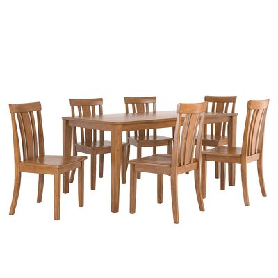 Alverson 7 Piece Dining Set Color: Oak