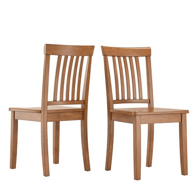 Alverson Solid Wood Dining Chair Color: Oak