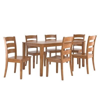 Alverson 7 Piece Dining Set Color: Oak
