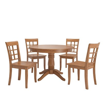 Alverson 5 Piece Dining Set Color: Oak