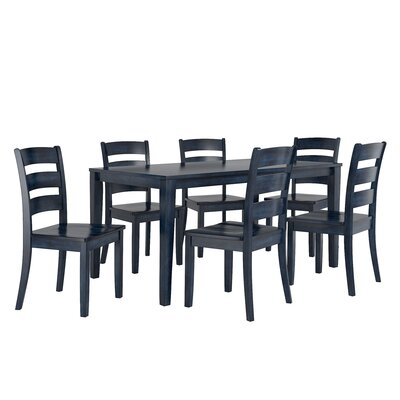 Alverson 7 Piece Dining Set Color: Antique Dark Denim