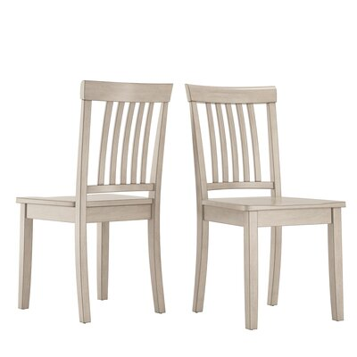 Alverson Solid Wood Dining Chair Color: Antique White