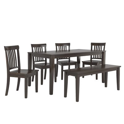 Alverson 6 Piece Dining Set Color: Black
