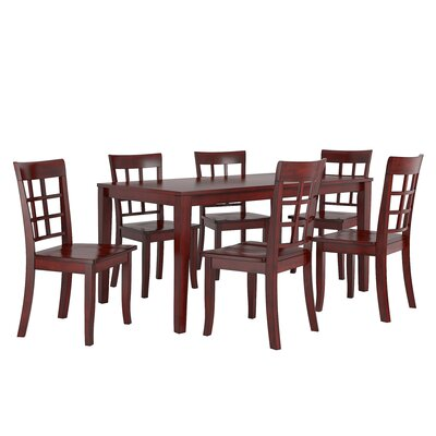 Alverson 7 Piece Dining Set Color: Berry Red