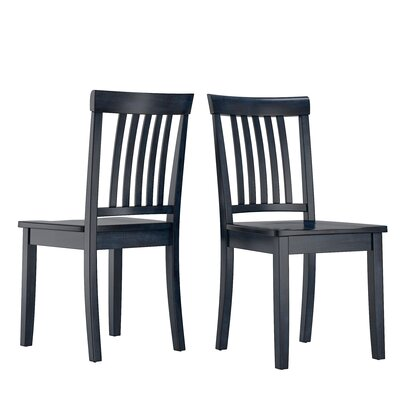 Alverson Solid Wood Dining Chair Color: Dark Denim