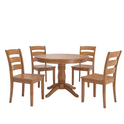 Alverson 5 Piece Dining Set Color: Oak