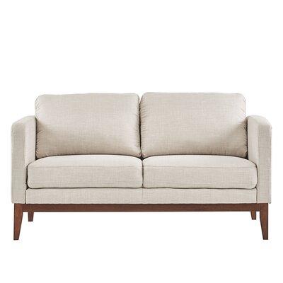 Alba Loveseat Upholstery: Beige