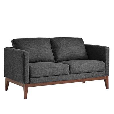 Alba Loveseat Upholstery: Dark Gray