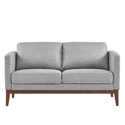 Alba Loveseat Upholstery: Gray