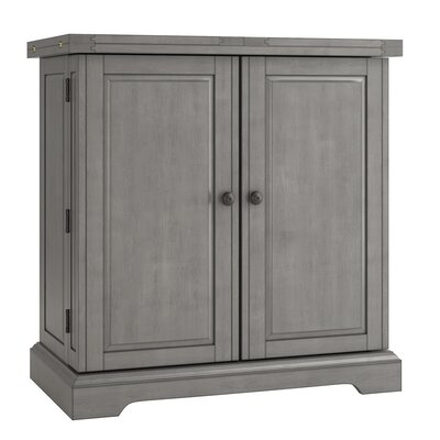 Rheingold Bar Cabinet with Wine Storage Finish: Antique Gray
