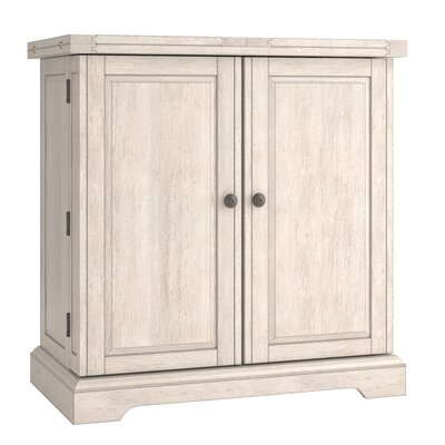 Rheingold Bar Cabinet with Wine Storage Color: Antique White