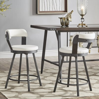 Berrin 25.05 Swivel Bar Stool Upholstery: White