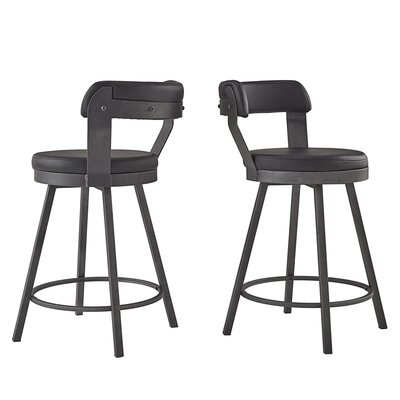 Craighead 5 Piece Counter Height Dining Set Chair Color: Black