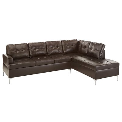 Knap Sectional Upholstery: Brown