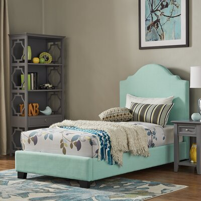 Durden Twin Panel Bed Fabric Color: Aruba Blue