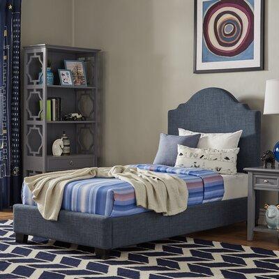 Durden Twin Panel Bed Fabric Color: Dark Denim